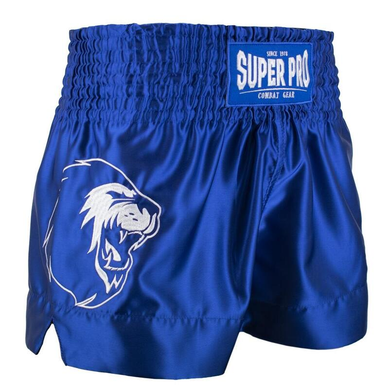 Super Pro Combat Gear Thai en Kickboksshort Hero Blauw/Wit Extra Large