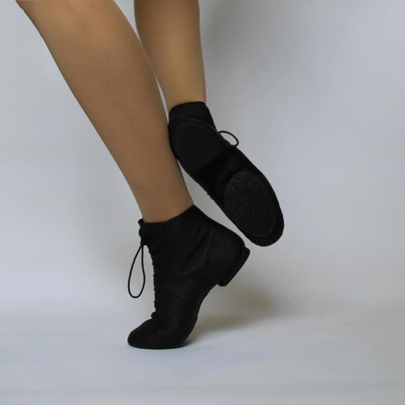 GINA RENFORCE - Botas de baile de jazz de cuero de vaca con suela de goma