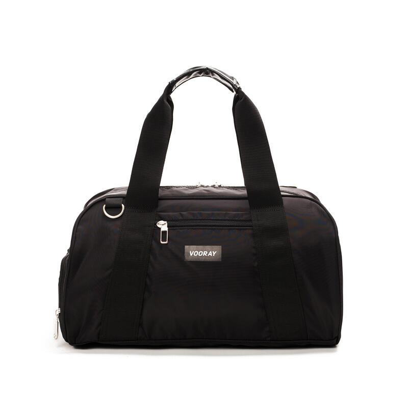 Burner Gym-39cm/23L-Sac de sport compact+poche à chaussures (Black Nylon)