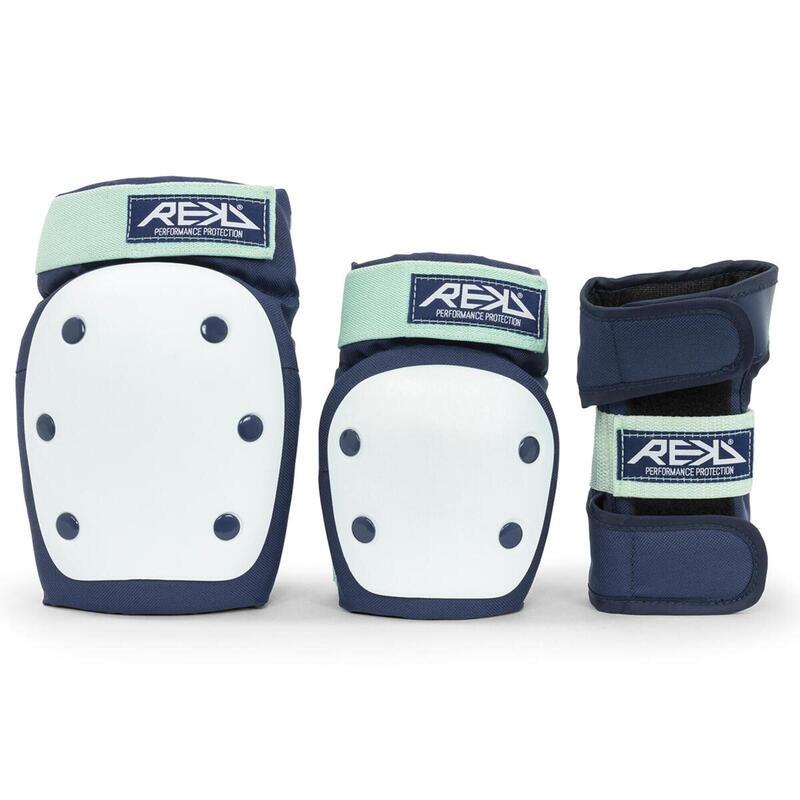Set di protezioni per ginocchia / gomiti / polsi per impieghi gravosi blu-S