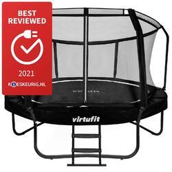 Trampoline VirtuFit Premium avec Filet de Sécurité - Noir - 366 cm