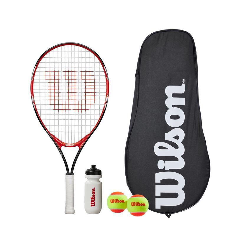 "Wilson Federer Tour 23"" Tennis Set - Includes Racket, Water Bottle & 2 Tennis Ba"