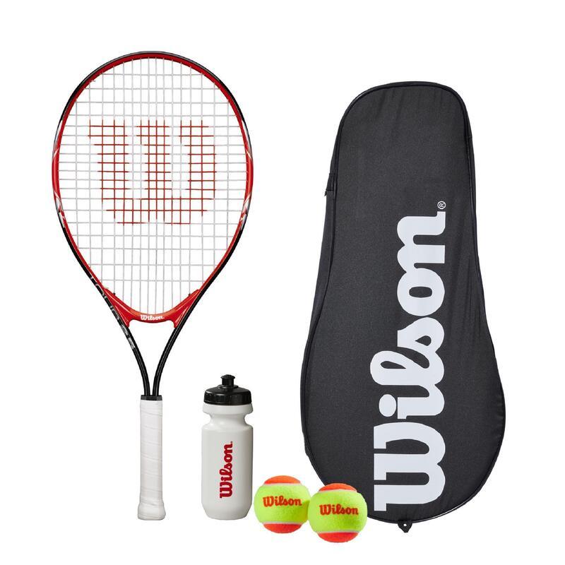 """Wilson Federer Tour 25"""" Tennis Set, includes Racket, Water Bottle, 2 Tennis Ball"""