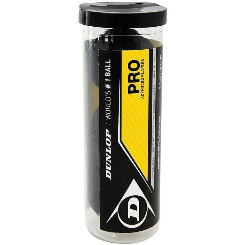 Dunlop Pro Squash 3 Ball Tube