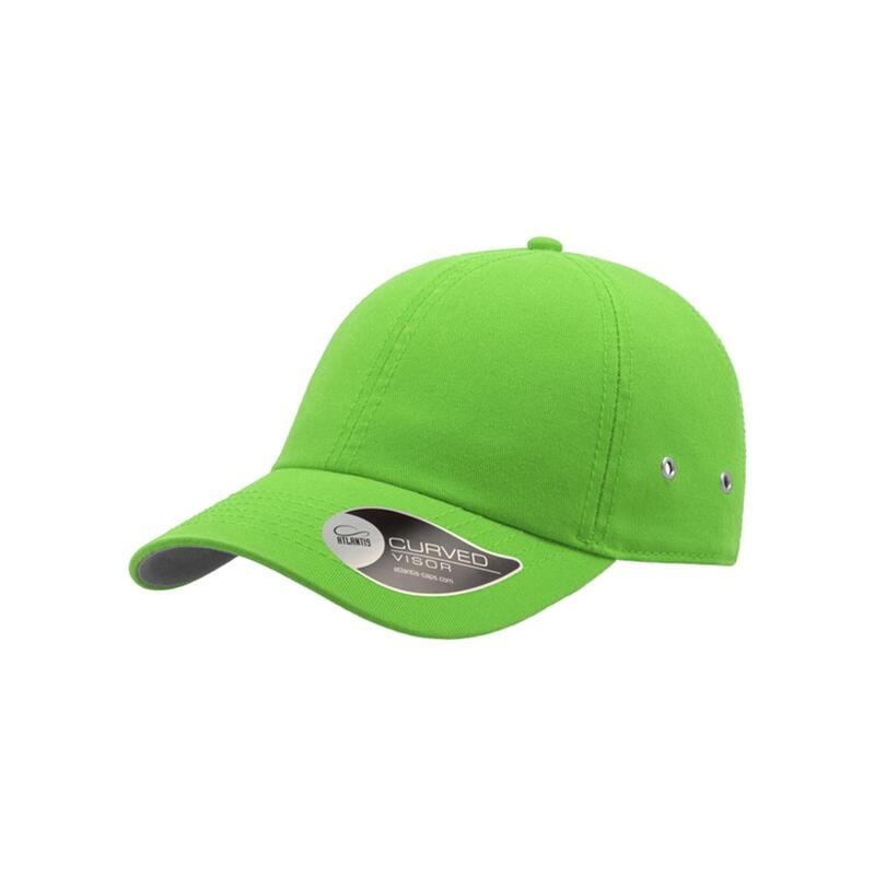Action 6 Panel Chino Baseball Cap (Pack of 2) (Green)