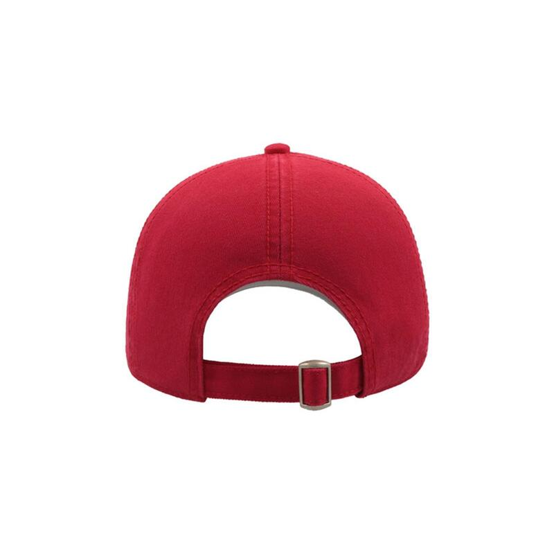 Action 6 Panel Chino Baseball Cap (Pack of 2) (Red)
