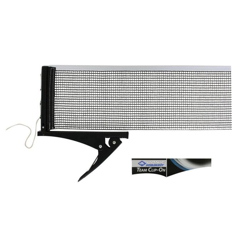 Donic-Schildkrot Black/White Table Tennis Net Set Team Clip-On