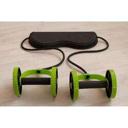Roues d'exercices pour abdominaux (avec support pour les genoux)