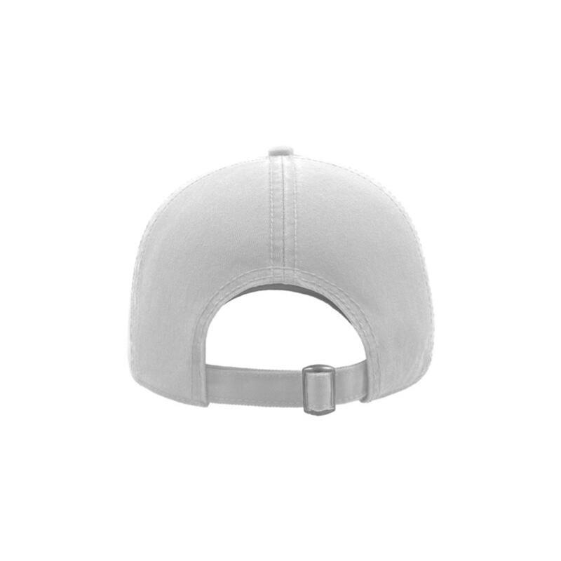 Action 6 Panel Chino Baseball Cap (Pack of 2) (White)