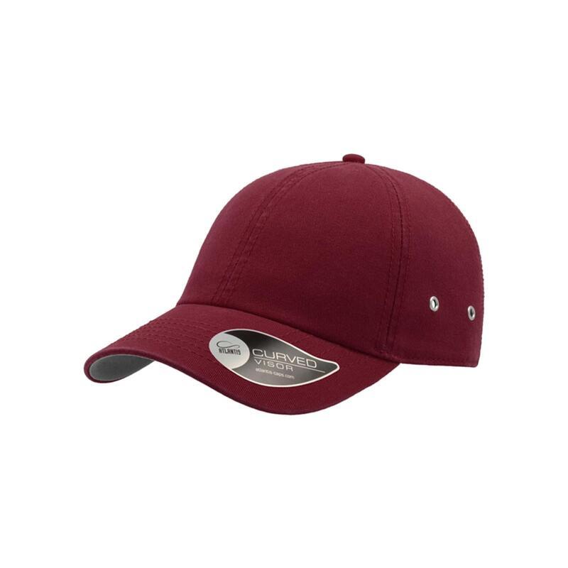 Action 6 Panel Chino Baseball Cap (Pack of 2) (Burgundy)