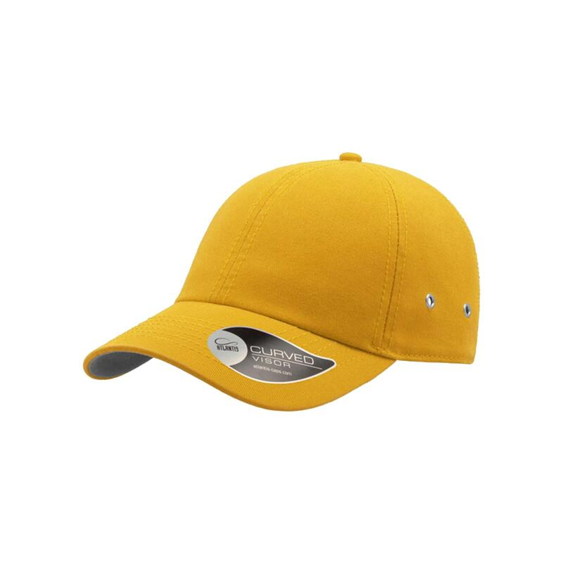 Action 6 Panel Chino Baseball Cap (Pack of 2) (Yellow)