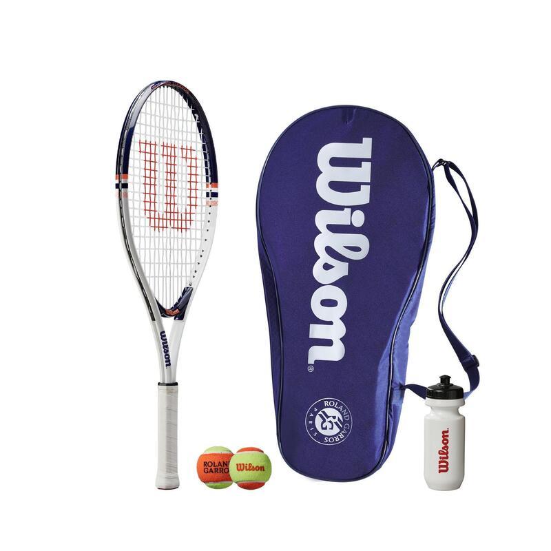 "Wilson Roland Garros 25"" Tennis Set - Includes Racket, Water Bottle, 2 Balls & C"