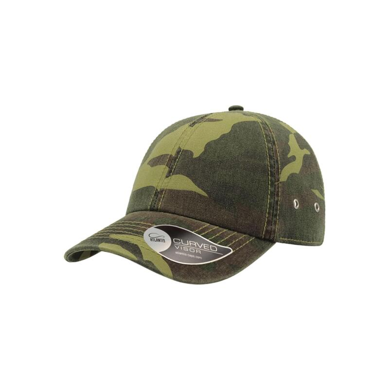 Action 6 Panel Chino Baseball Cap (Pack of 2) (Camouflage)