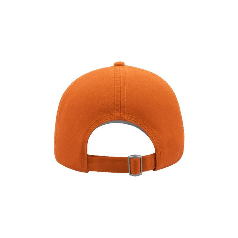 Action 6 Panel Chino Baseball Cap (Pack of 2) (Orange)