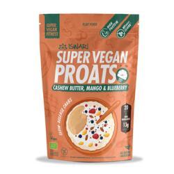 Super Vegan Proats Manteiga de Caju, Manga e Mirtilos