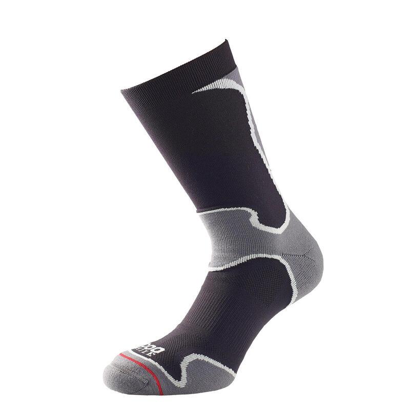 1000 Mile 2029 Double Layer Black Fusion Sock Ladies