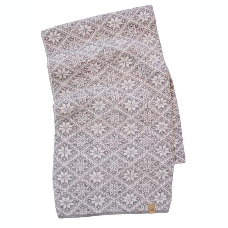 Gebreide sjaal van wol Freya Grey Marl21-One Size 185x27-Grijs