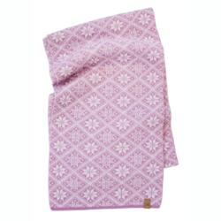 Gebreide sjaal van wol Freya SweetLila 21-One Size 185x27-Roze