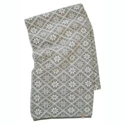 Gebreide sjaal van wol Freya LichenGreen21-One Size 185x27-Groen