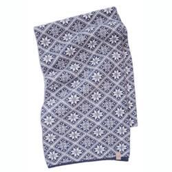Gebreide sjaal van wol Freya Light Navy21-One Size 185x27-Blauw