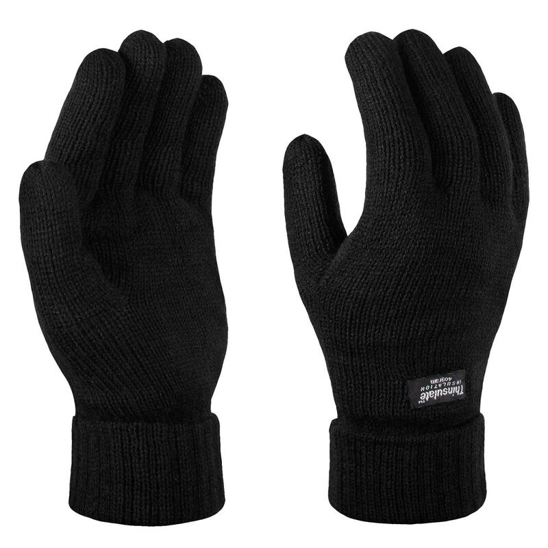 Unisex Thinsulate Thermal Winter Gloves (Black)