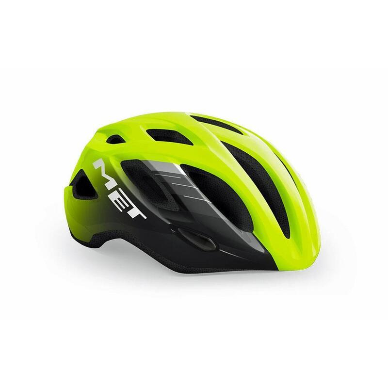 Met Idolo Road Helmet Fluo Yellow Black   Glossy