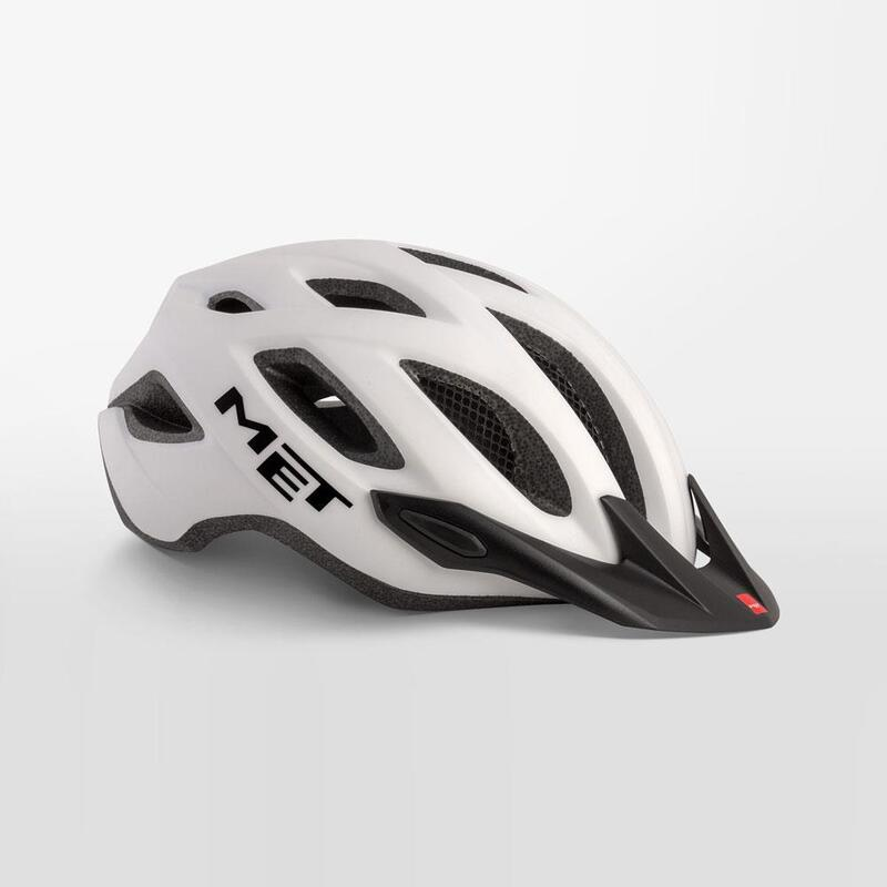 MET Crossover Helmet with Integrated LED White