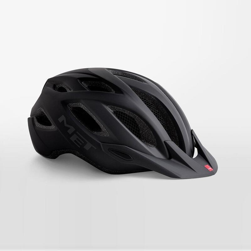 MET Crossover Helmet with Integrated LED Matt Black
