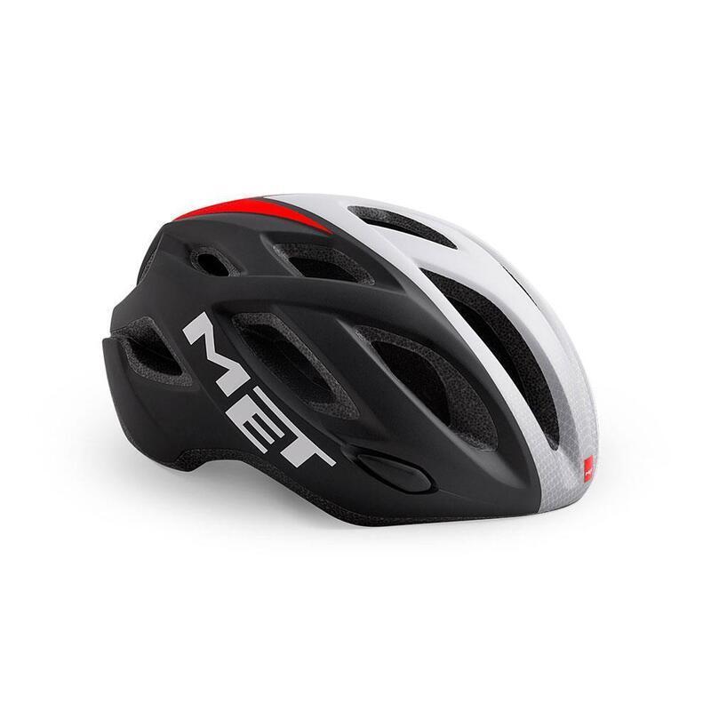 Met Idolo Road Helmet Black Shaded White Red   Matt