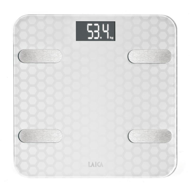 BÁSCULA BLUETOOTH PS7011 CRISTAL 180 kg con cálculo de la composición corporal