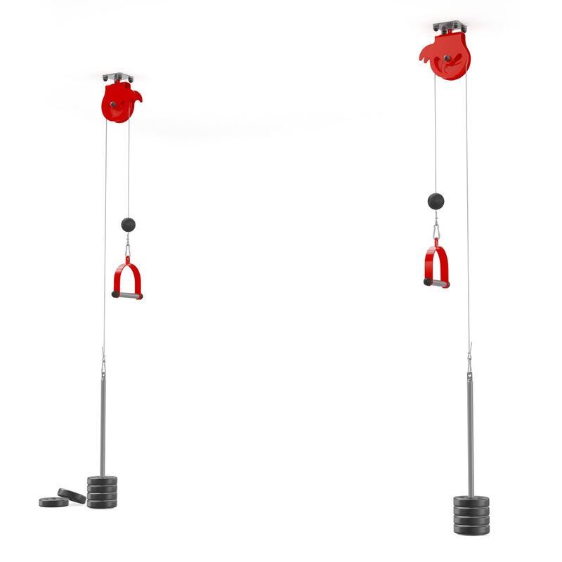 2 tiradores de cable giratorios para montaje en el techo