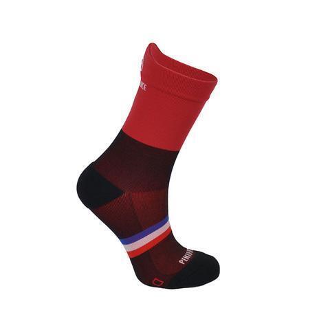 Chaussettes de cyclisme Noir et Rouge
