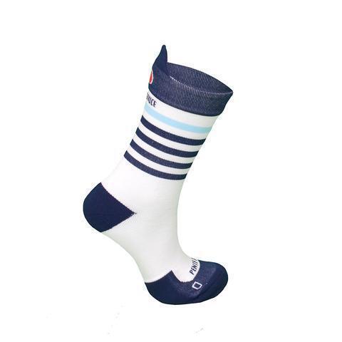 Chaussettes de cyclisme Marinière Bleue