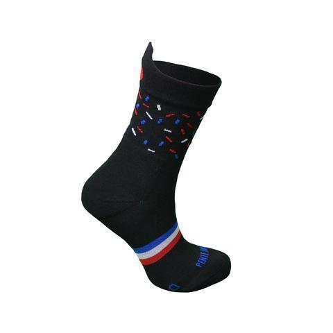 Chaussettes de course à pied Confettis Noirs