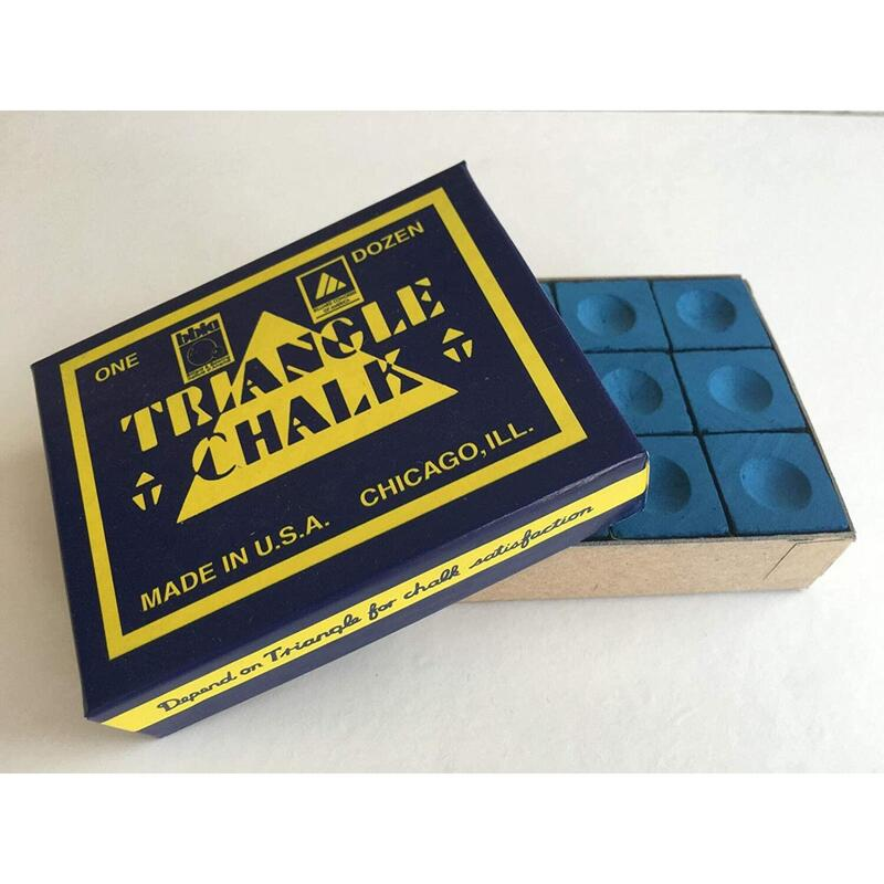 TRIANGLE SNOOKER CHALK BLUE X12 PIECES