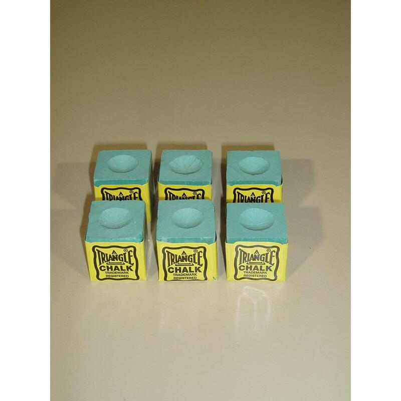 TRIANGLE SNOOKER CHALK GREEN X6 PIECES