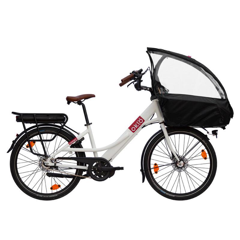 Familéö : vélo cargo compact électrique, 3 vitesses + accessoires enfant
