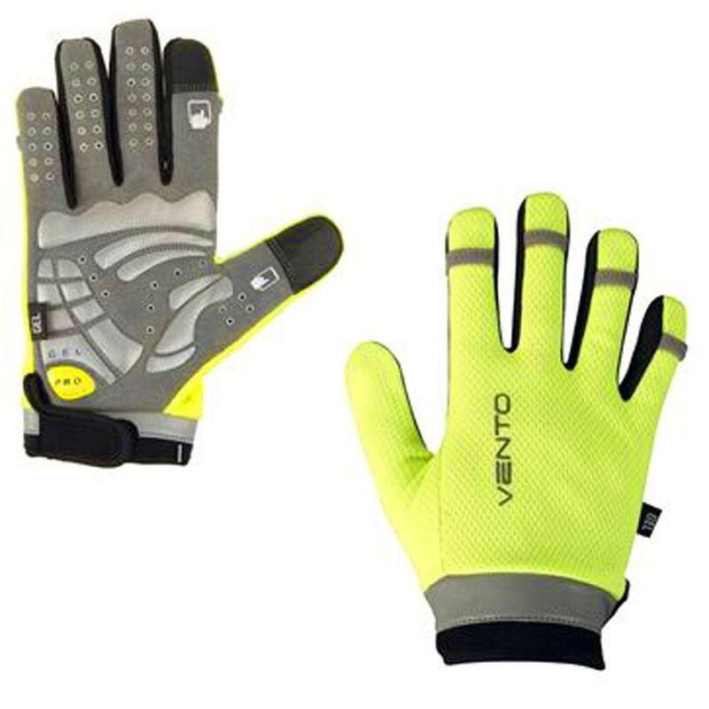 Vento Cycle Gloves Hi-Viz Touch Screen Gloves - S