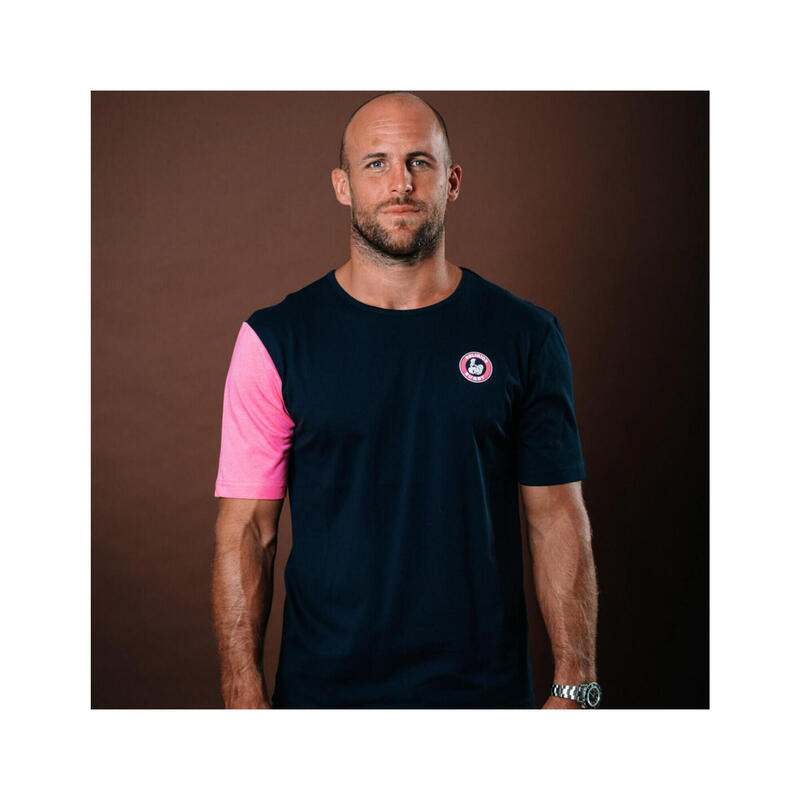 T-shirt manches courtes de rugby homme Pink Swing