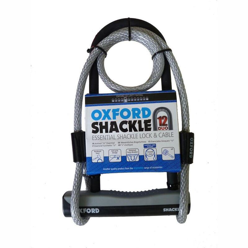 Oxford D Lock Essential Shackle 12 Duo