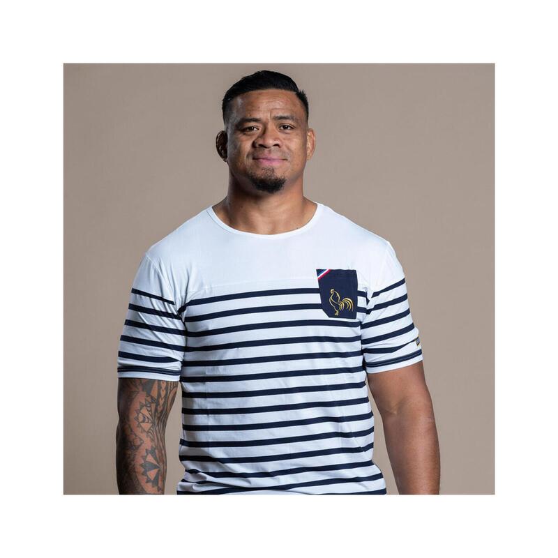 T-shirt manches courtes de rugby homme Marinière La Française