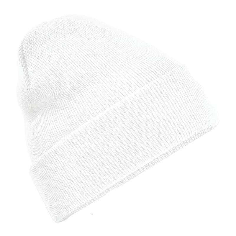 chapeau d'hiver lisse adulte sport blanche