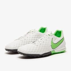 Nike Tiempo Legend 8 Pro TF FOOTBALL BOOT - Platinum Tint / Rage Green