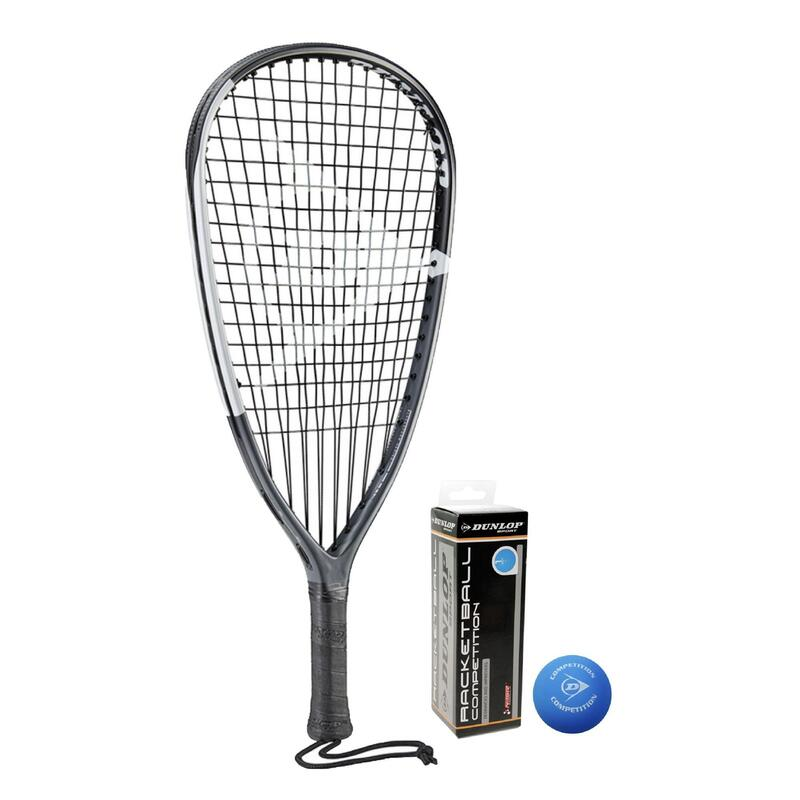 Dunlop Blackstorm Ti Racketball Racket inc 3 Racketball Balls