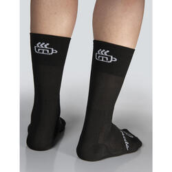Chaussettes de cyclisme 'Coffee ride' noire