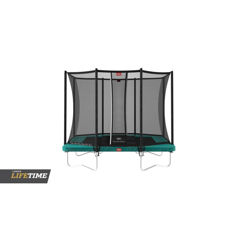 Trampoline rechthoekig Favorit Regular groen 280 cm met veiligheidsnet