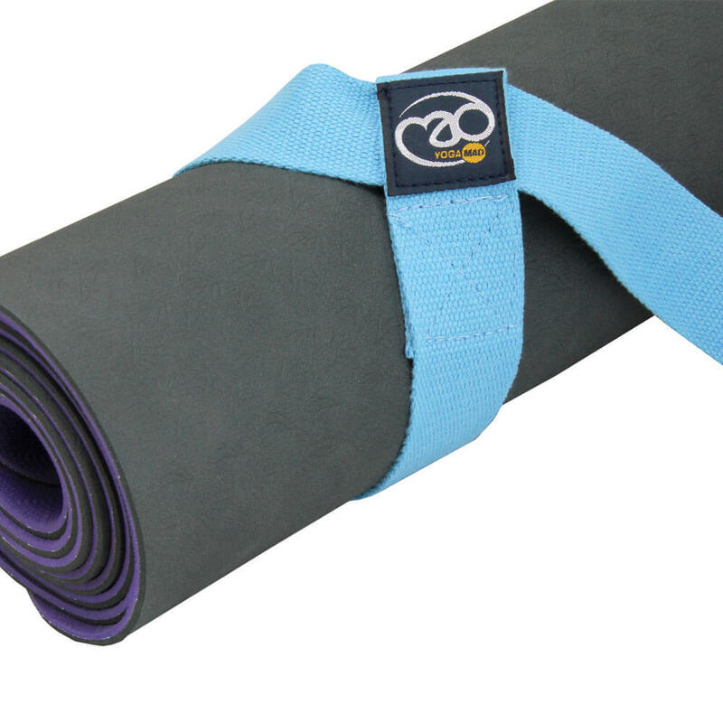 Fitness Mad Yoga Belt & Mat Carry Strap Light Blue