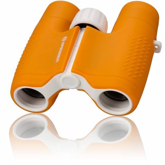 Prismáticos para Niños naranja para aventuras y observar animales 6x21 JUNIOR