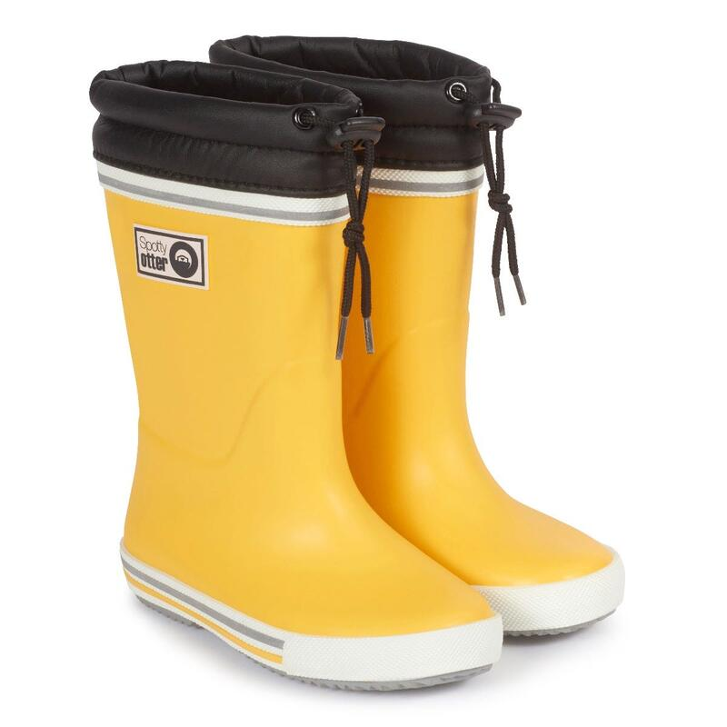Spotty Otter Forest Leader Fleece Lined Wellies - Yellow