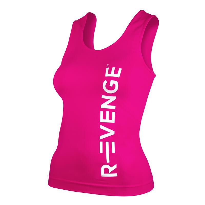 Camiseta sin mangas técnica para mujer fitness Q-Skin fuchsia